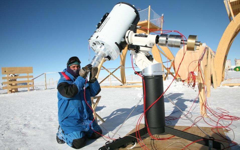 motor cc en telecopio